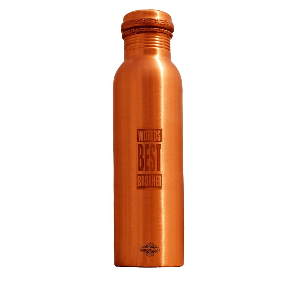 Copper Lacquer Bottle Engraved Bottle (World Best Brother)
