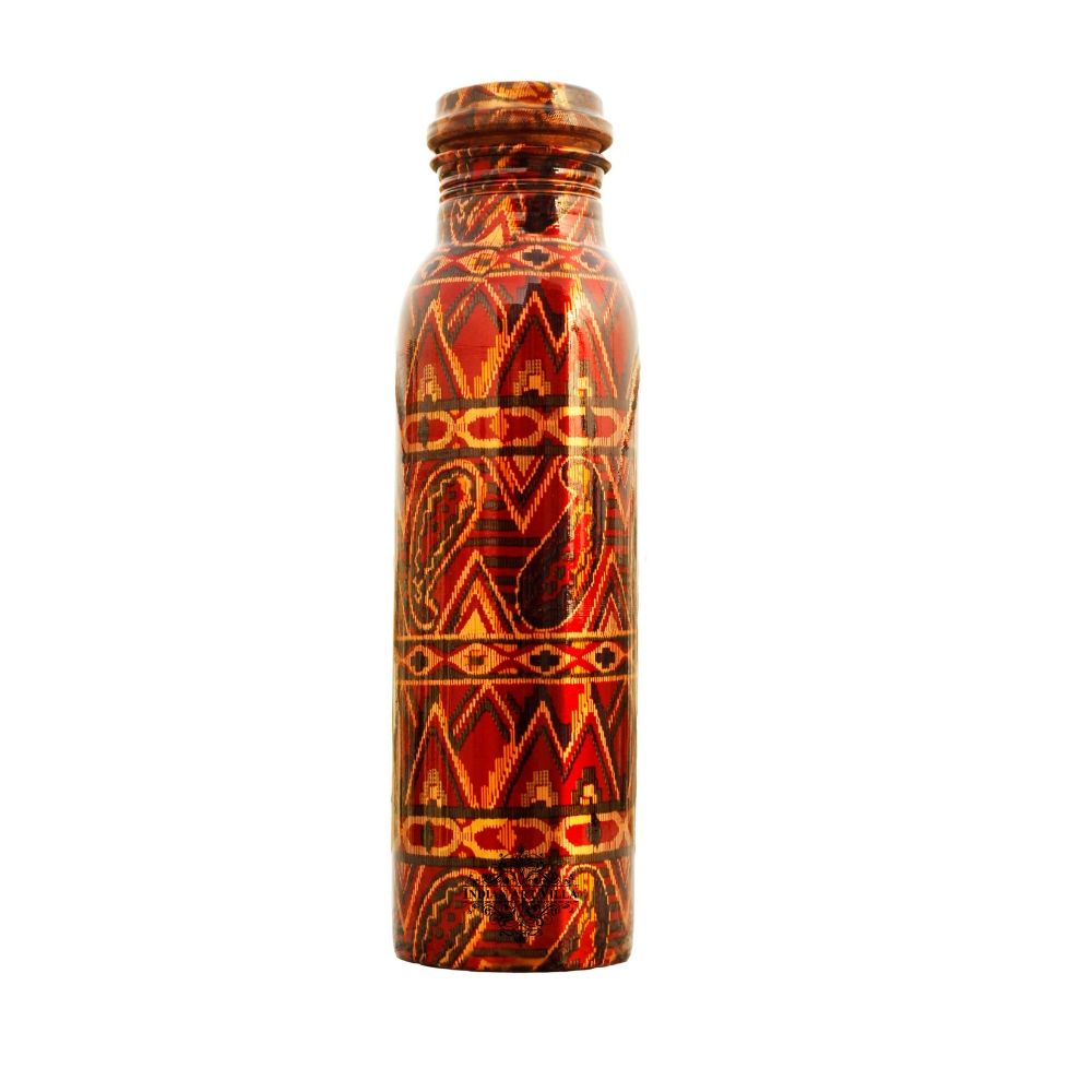 Copper Printed Design Bottle, 33 Oz