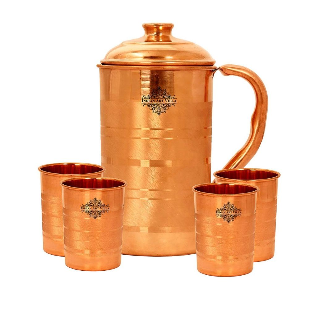 Copper Luxury Jug With Glass