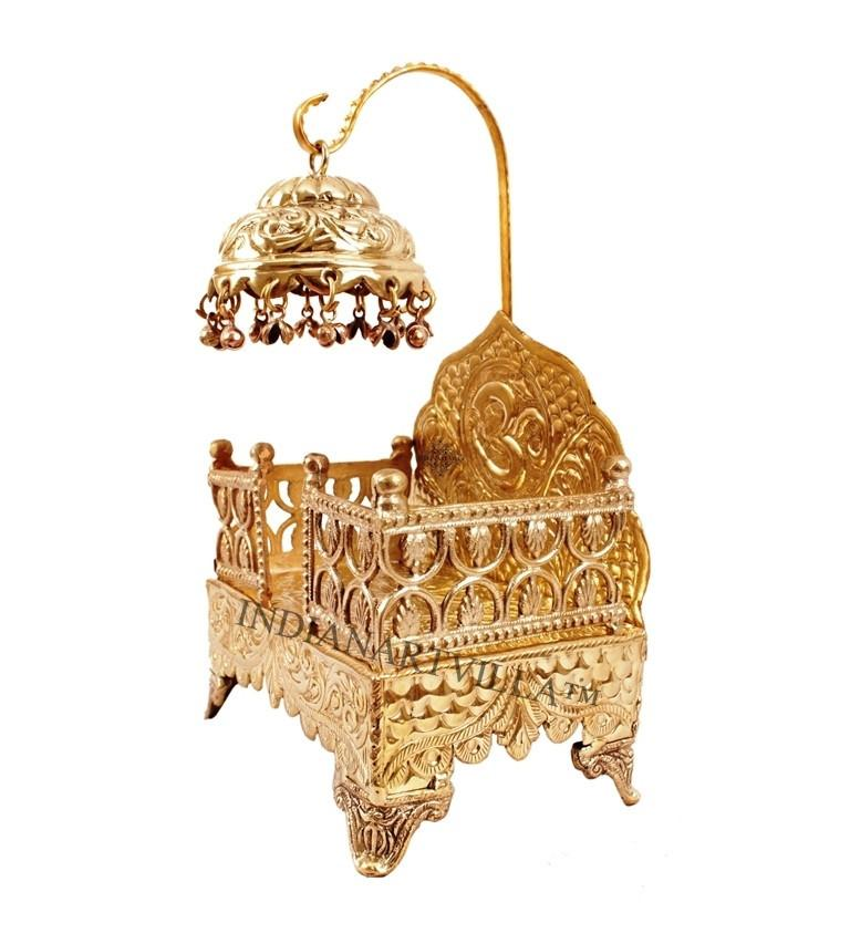 Antique Religious Om Design Singhasan