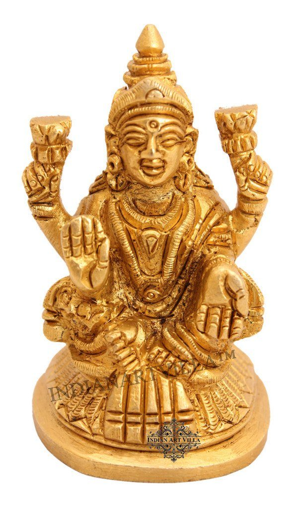 Beautiful Brass Laxmi Ji for Home Decor Temple Puja Gift Item