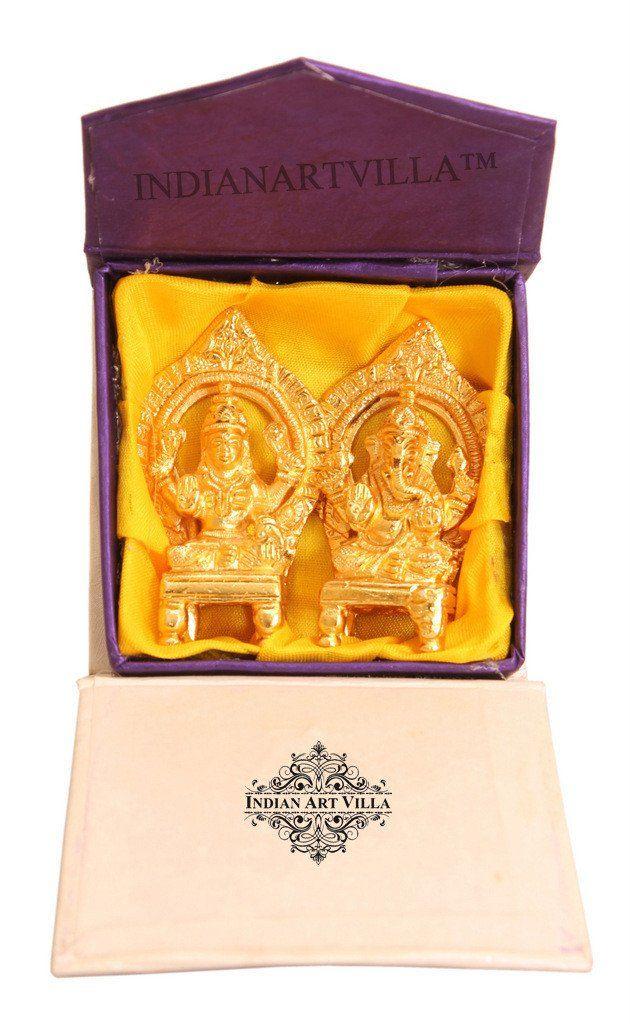 Beautiful Brass Set of Ganesh Ji Laxmi Ji With Gift Box