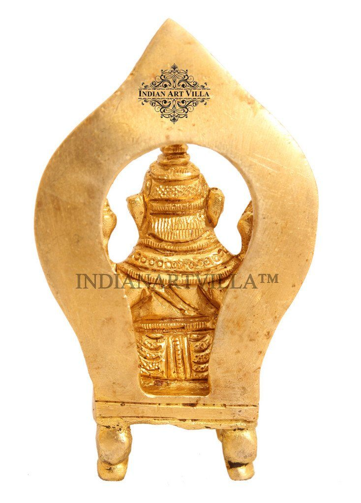 Beautiful Design Brass Ganesh Ji for Home Decor Temple Puja Gift Item Figurines Indian Art Villa