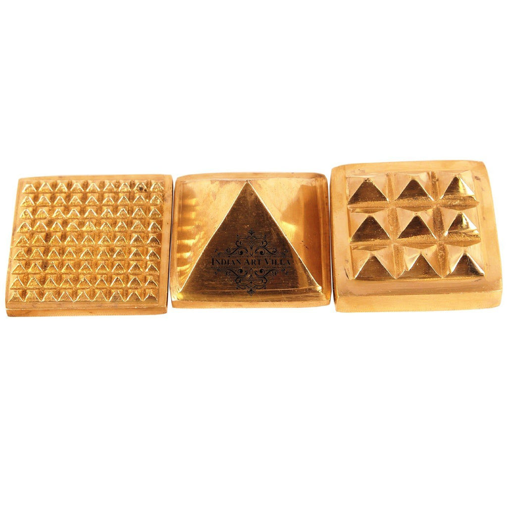 Brass 3 Stage Fengshui Vastu Pyramid|Temple Home Office Religious Gift Item Vastu Items CC-1