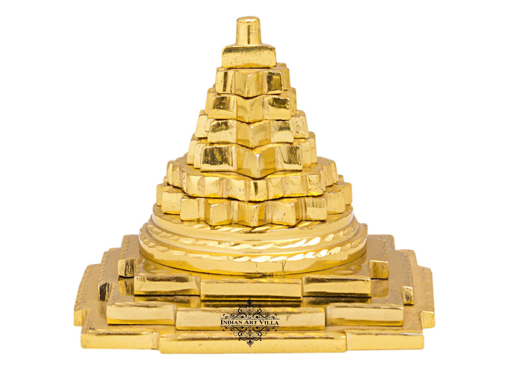 Brass 3 Stage Vastu Fengshui Pyramid, For Positive Energy Increase Concentration Vastu Items V-1 Small