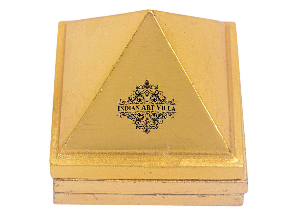 Brass 3 Stage Vastu Pyramid with Vastu Yantra|Incease Positive Energy & Concentration Vastu Items V-1