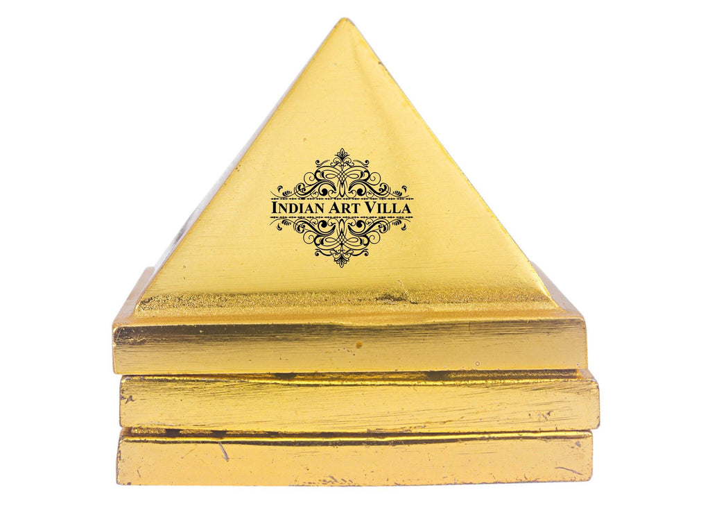 Brass 3 Stage Vastu Pyramid with Vastu Yantra|Incease Positive Energy & Concentration