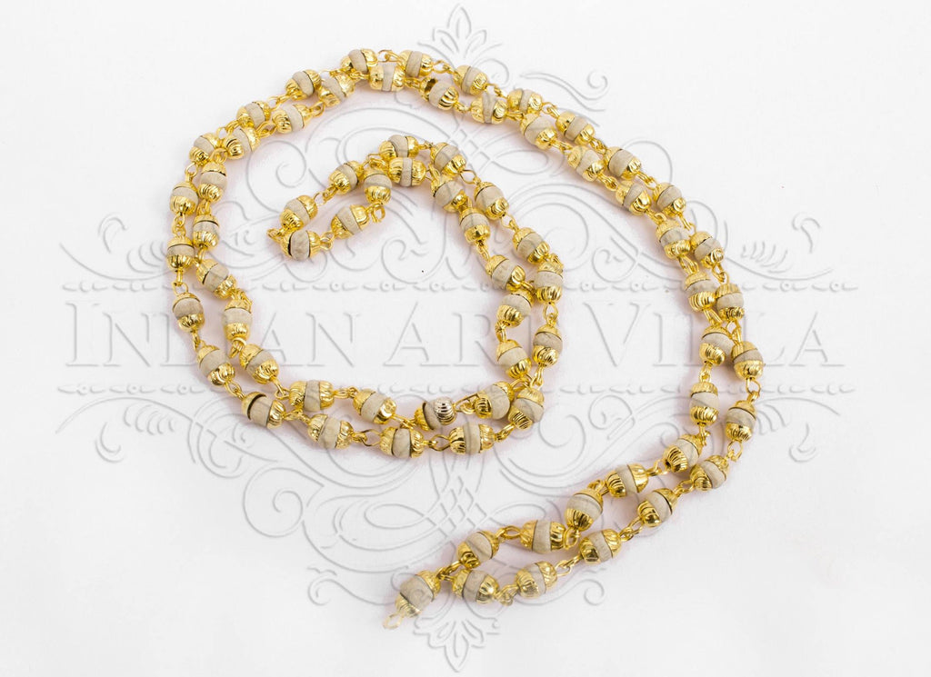 Brass Bidding Tulsi Mala Necklace, Men Accessory Gift Item