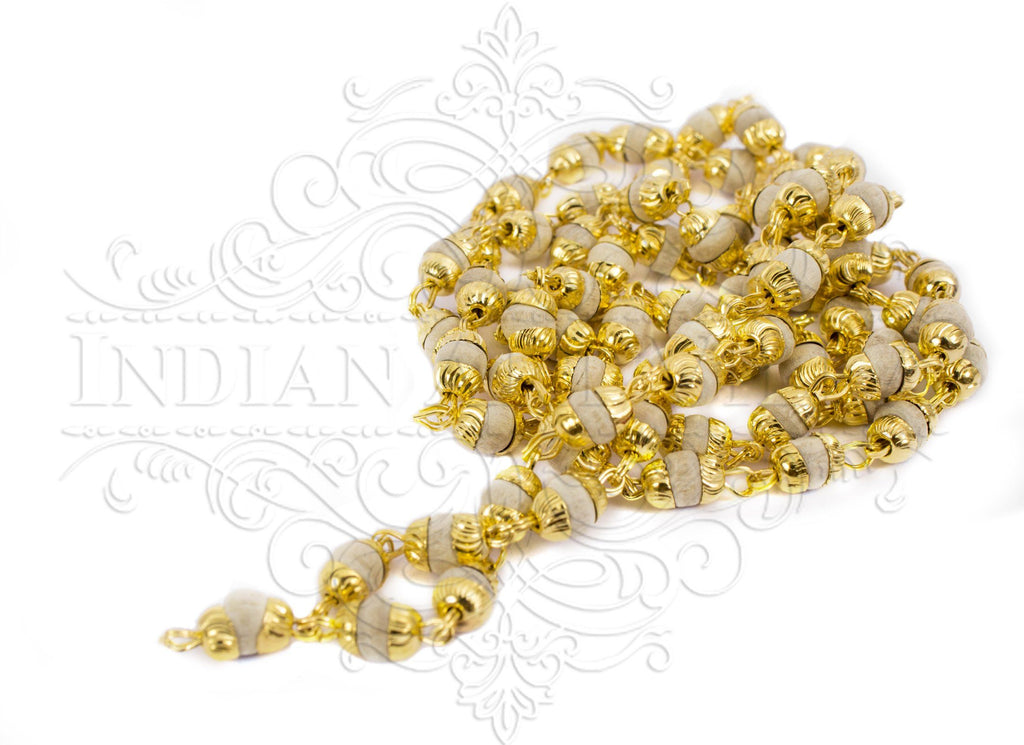 Brass Bidding Tulsi Mala Necklace, Men Accessory Gift Item Jewelry V-1