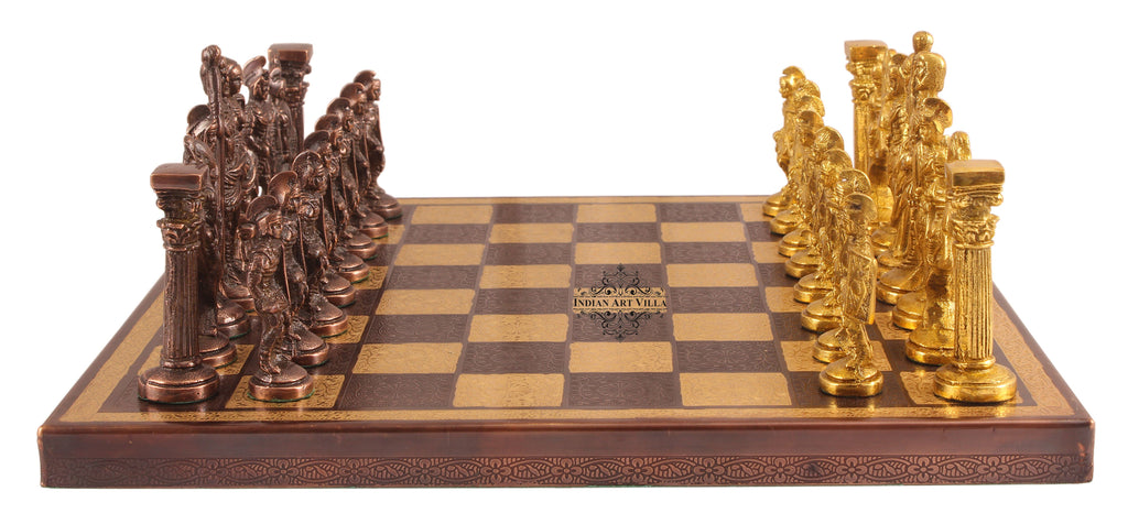 Brass Chess with Realistic Piece (Gold + Silver)