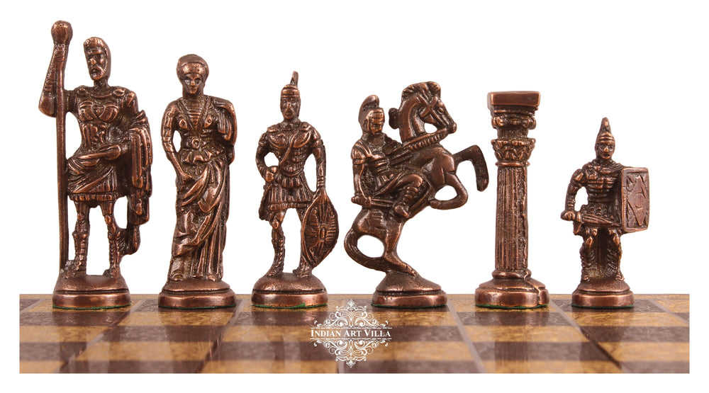 Brass Chess with Realistic Piece (Gold + Silver) Home Accent HR-2