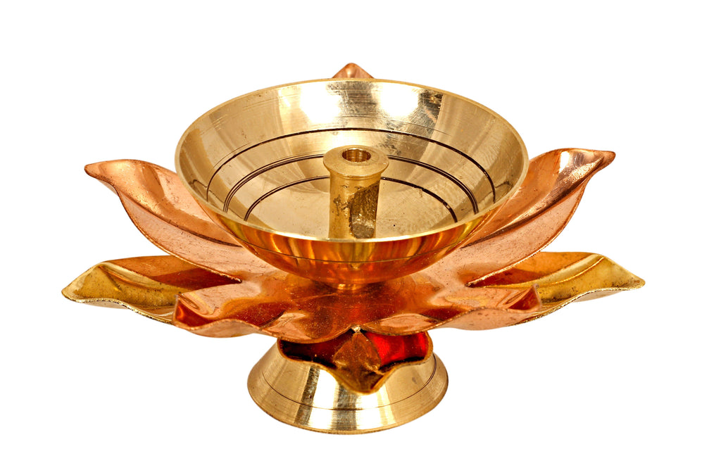 Brass & Copper Plated Arti Diya Aarti Lamp BR-10