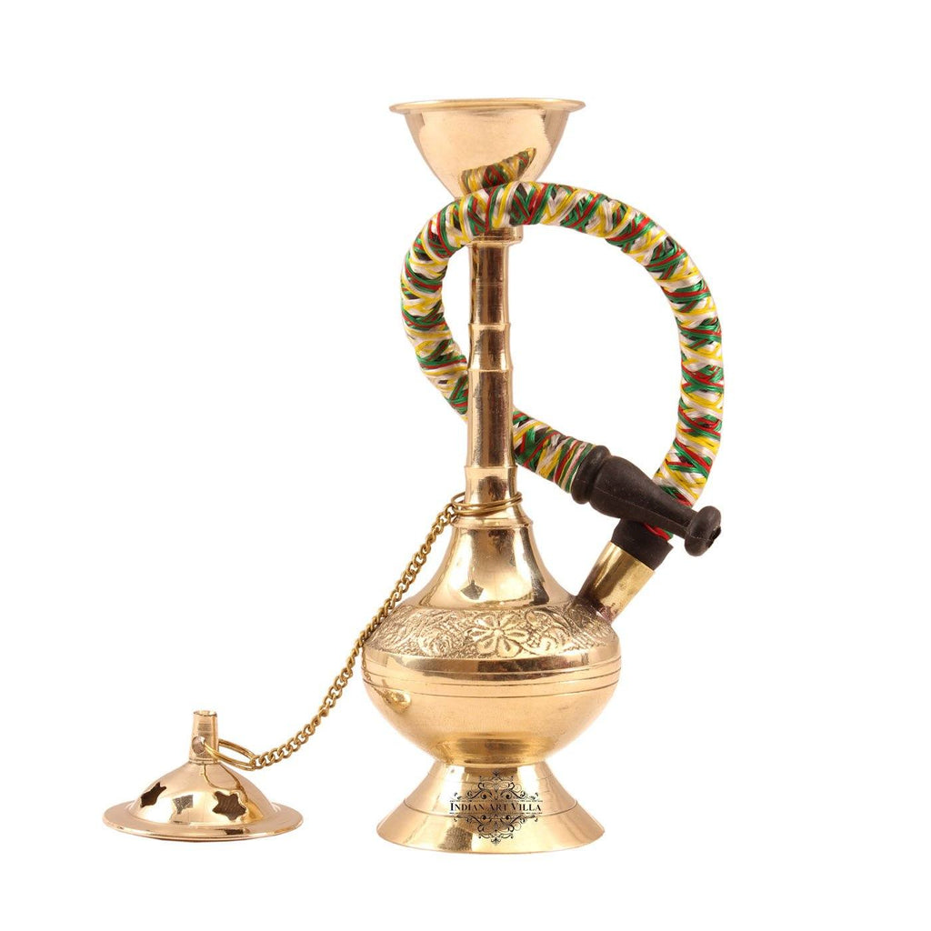 Brass Gold Finish Designer Hookah Home Accent IAV-BR-3-111-