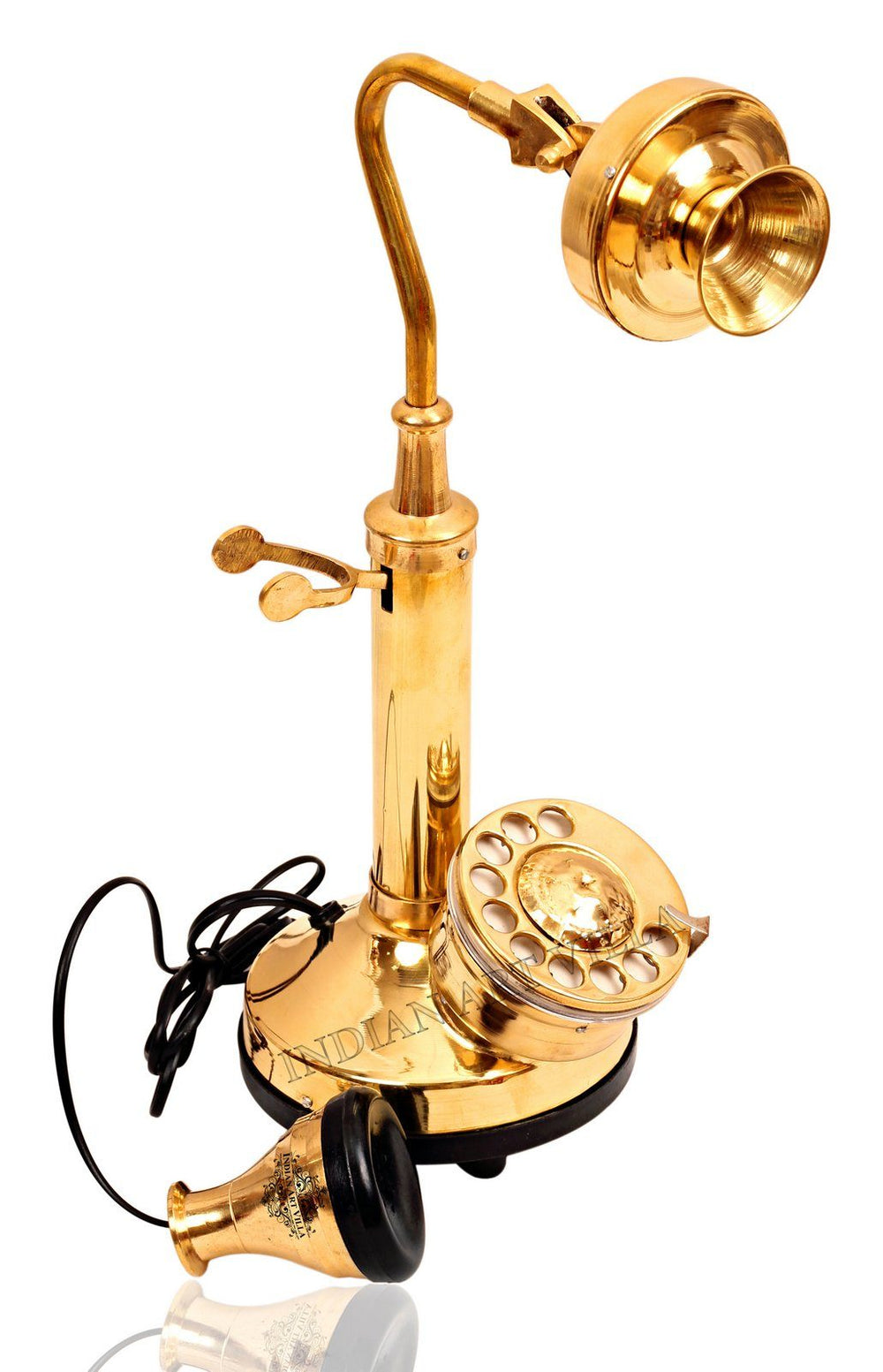 Brass Golden Candle Stick Phone - Long neck Design Home Accent HR-1