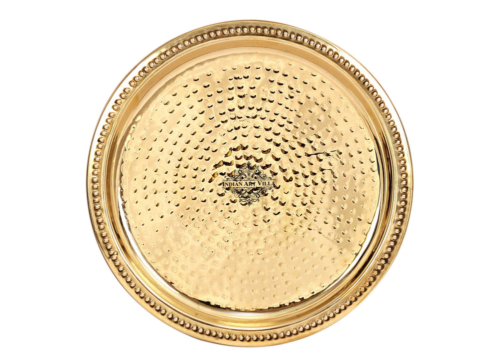 Brass Hammered Design Quarter Plate Side Plate, Serveware Dinnerware
