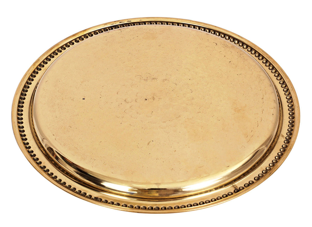 Brass Hammered Design Quarter Plate Side Plate, Serveware Dinnerware Brass Plates BR-1