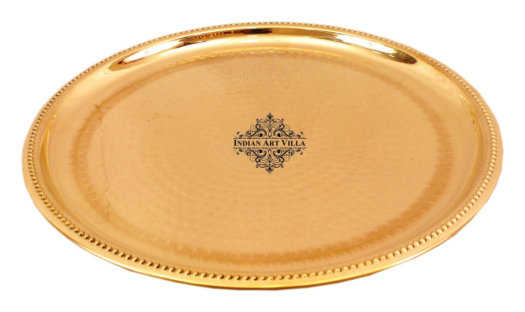 Brass Hammered Serving Plate Tray