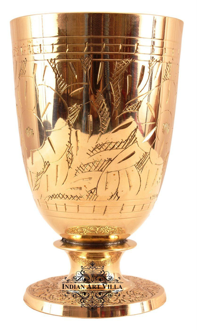 Brass Handmade Designer Glass 11 Oz