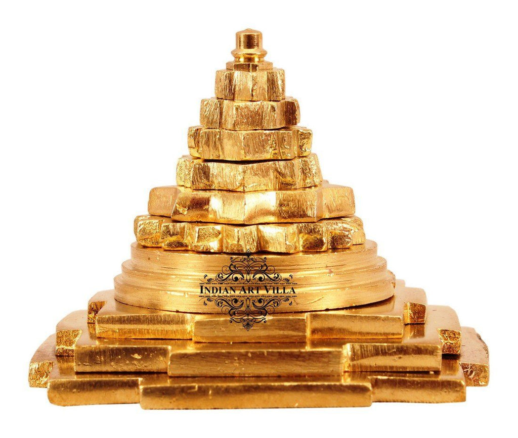 Brass Handmade Three Stage Vastu Pyramid Vastu Items Indian Art Villa