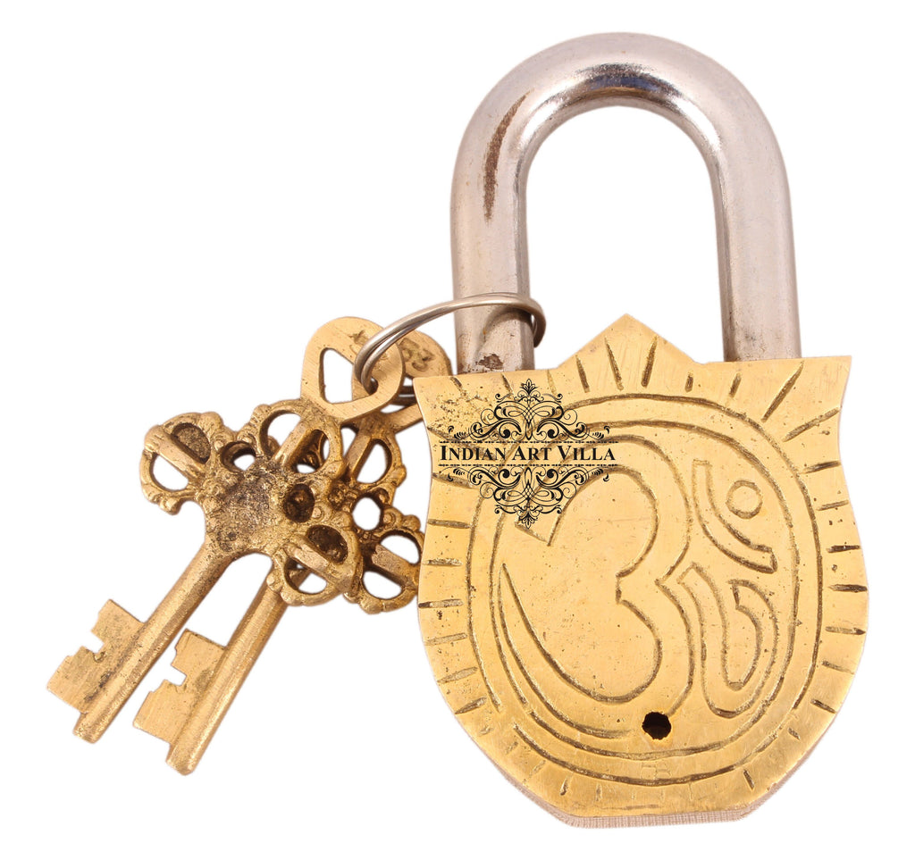 Brass Laddu Gopal Ji Design Lock Designer Locks CC-1