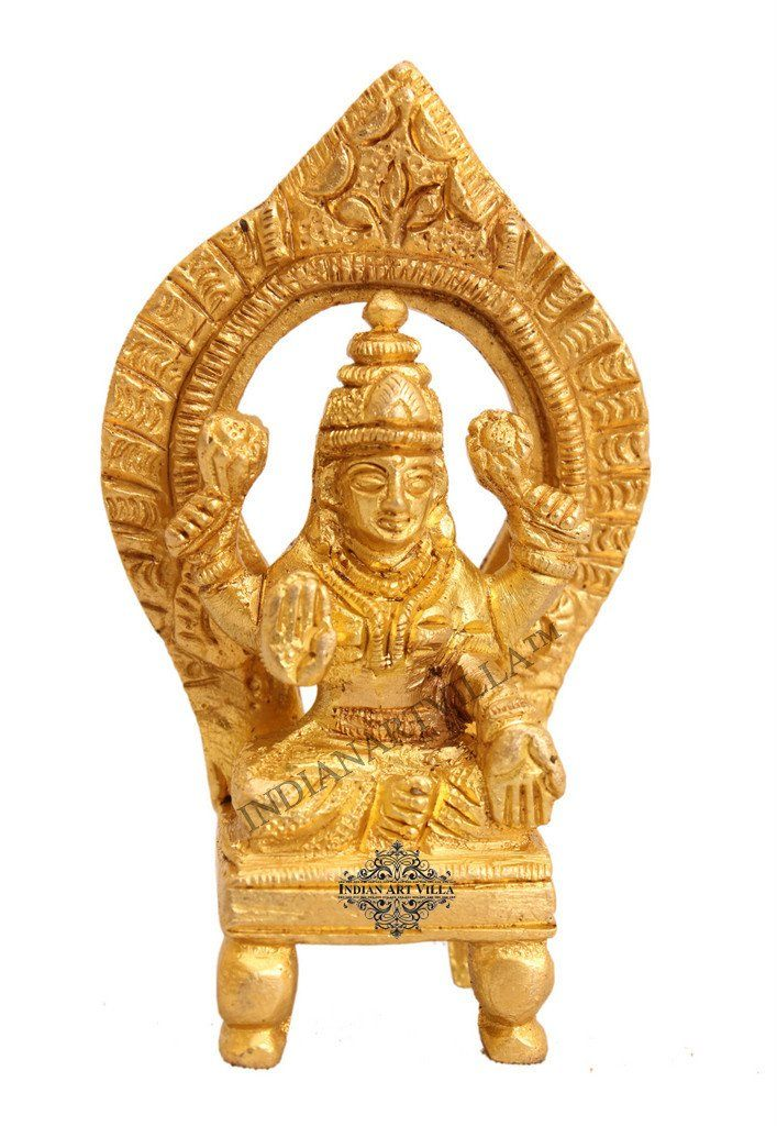 Brass Laxmi Ji Goddess for Home Decorative Temple Puja Gift Item