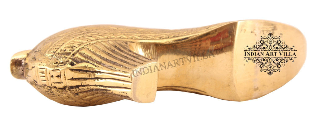 Brass Leaf Design High Heels Shoe Ashtray Home Accent Indian Art Villa