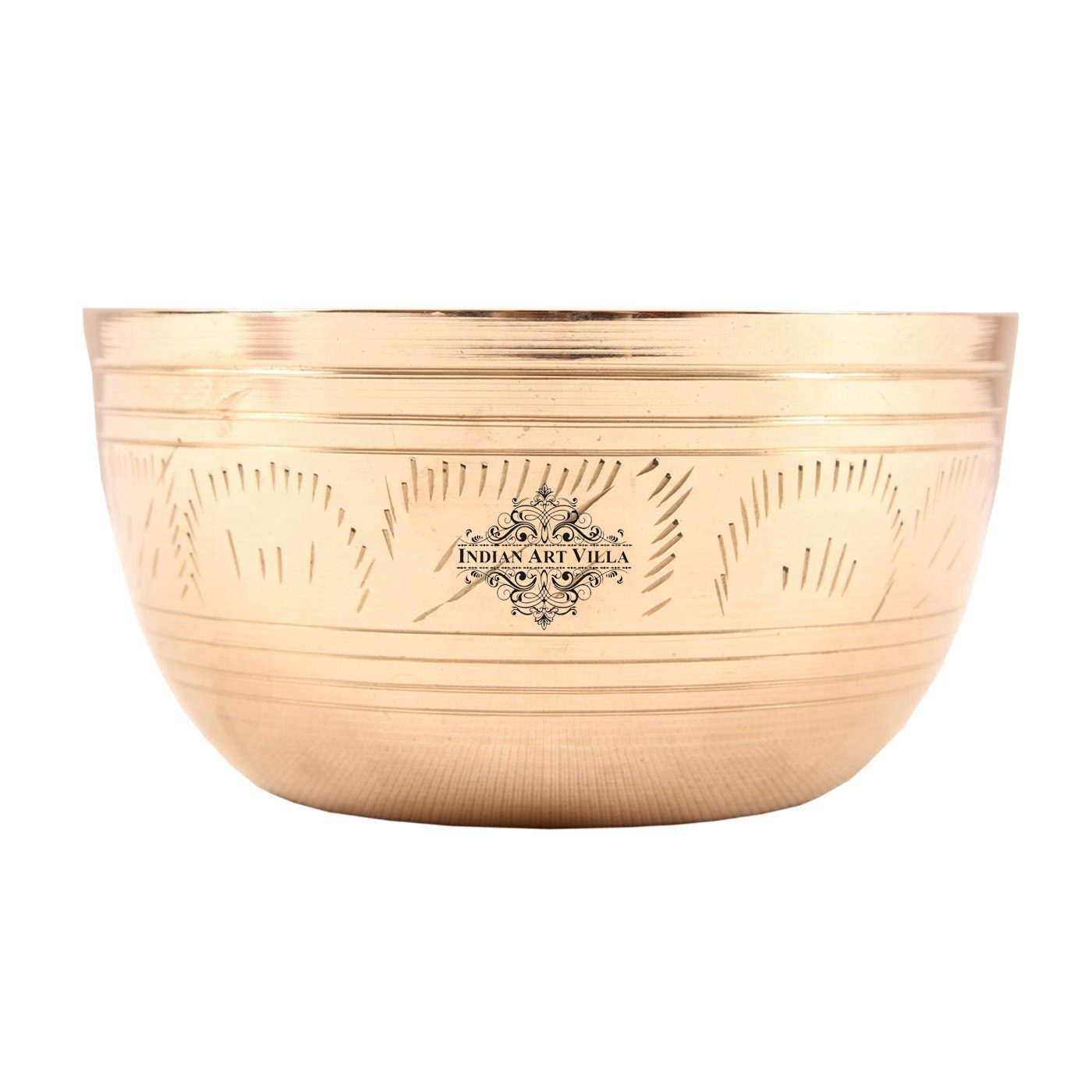 Brass Lining Design Serving Bowl Serving Dishes 10 Oz