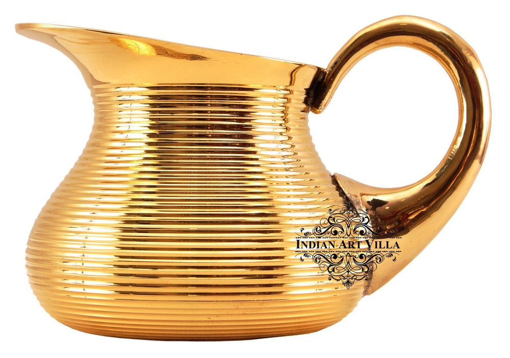 Brass Lining Designer Jug Pitcher 40 Oz