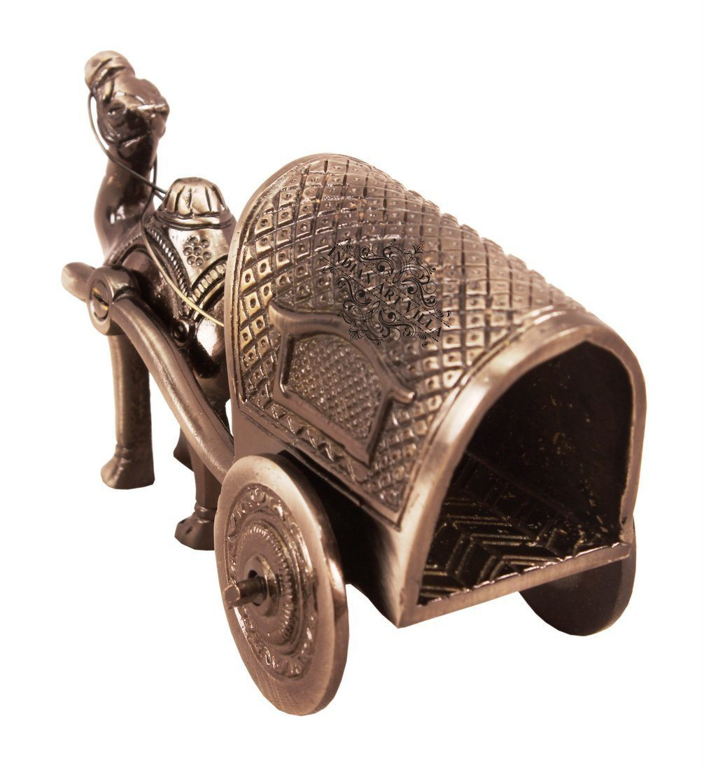 Brass Polished Camel Cart Handcrafted Antique Showpiece