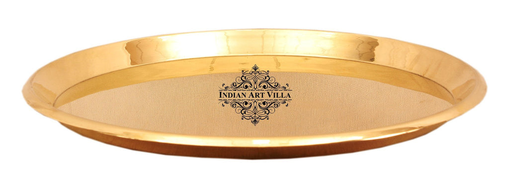 Brass Serving Plate Tray Brass Plates Indian Art Villa