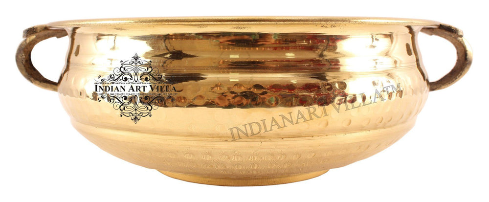 Brass Urli Water Pot Container Home Accent Indian Art Villa 11
