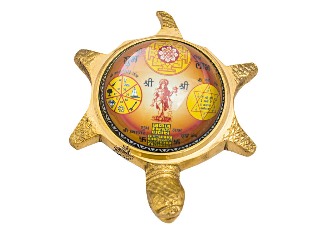 Brass Vastu Tortoise with Shree Yantra|Attract Money fulfill our wishes