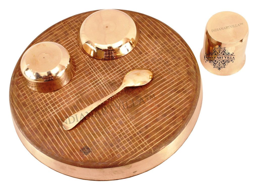 Bronze Designer 5 Piece Dinner Set Bronze Dinner Sets IAV-KB-TW-102