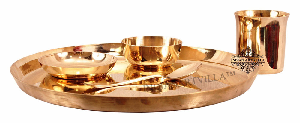 Bronze Designer 5 Piece Dinner Set Bronze Dinner Sets Indian Art Villa