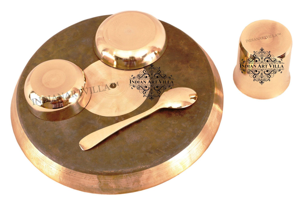 Bronze Designer 5 Piece Lining Design Dinner Set Bronze Dinner Sets Indian Art Villa
