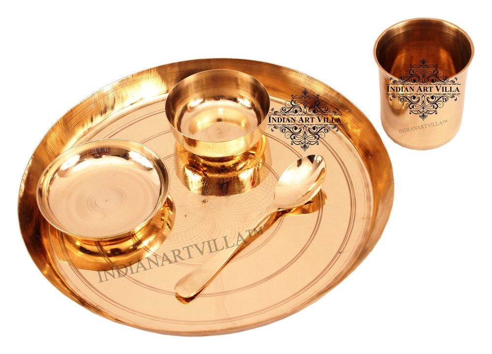 Bronze Designer 5 Piece Lining Design Dinner Set