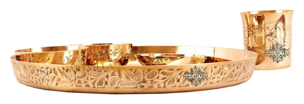 Bronze Designer 6 Piece Designer Dinner Set Bronze Dinner Sets Indian Art Villa