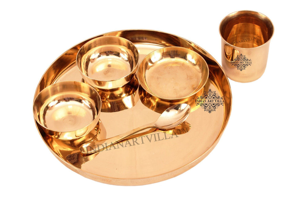 Bronze Designer 6 Piece Dinner Set Bronze Dinner Sets Indian Art Villa