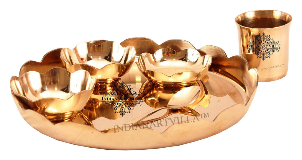 Bronze Designer 6 Piece Lotus Design Dinner Set
