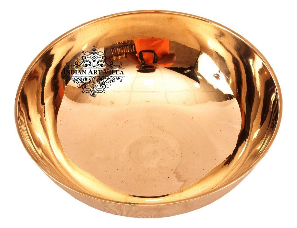 Bronze Kansa Round Shape Bowl 9 Oz | 11 Oz | 16 Oz | 25 Oz | 40 Oz Bronze Bowls Indian Art Villa 16 Oz
