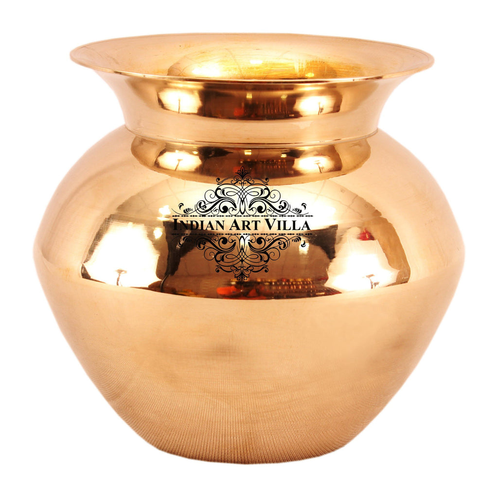 Bronze Kansa Utensil Surya Namaskar Lota Container Copper Pot K-1 Big