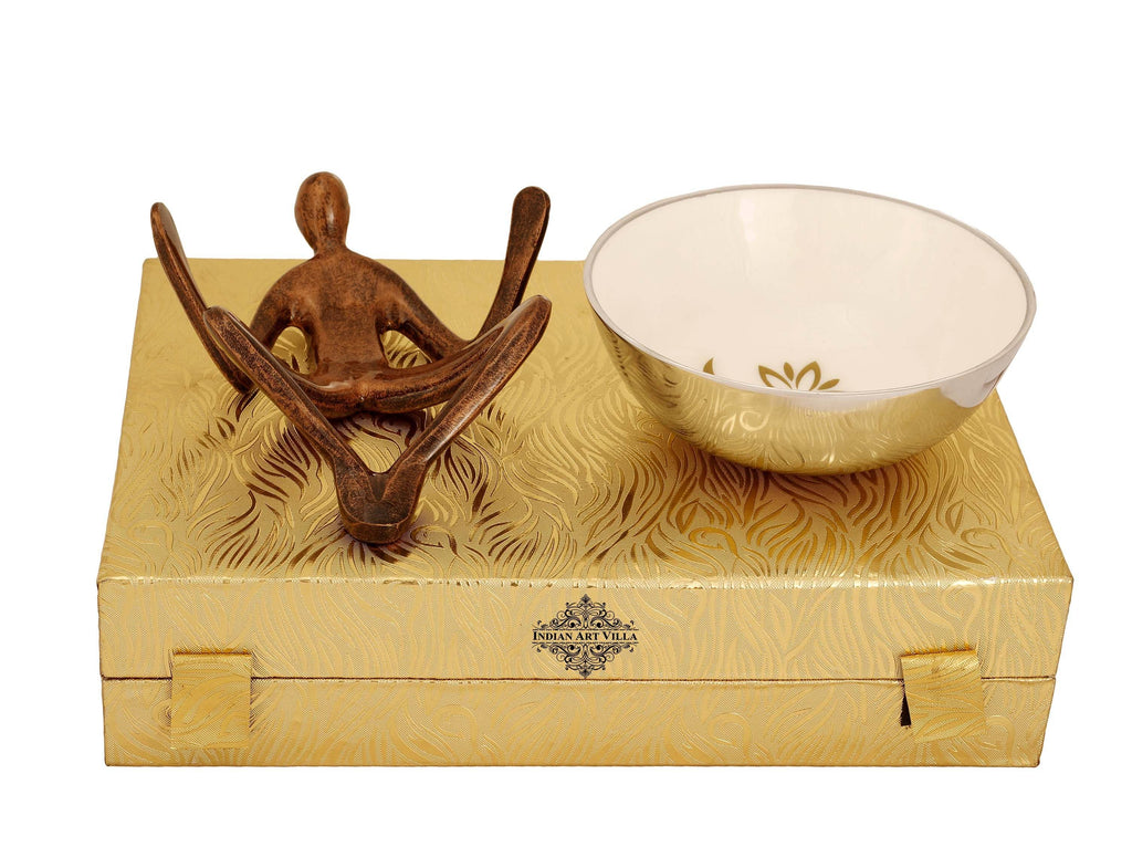 Centre Table Decorative Bowl With Human Stand