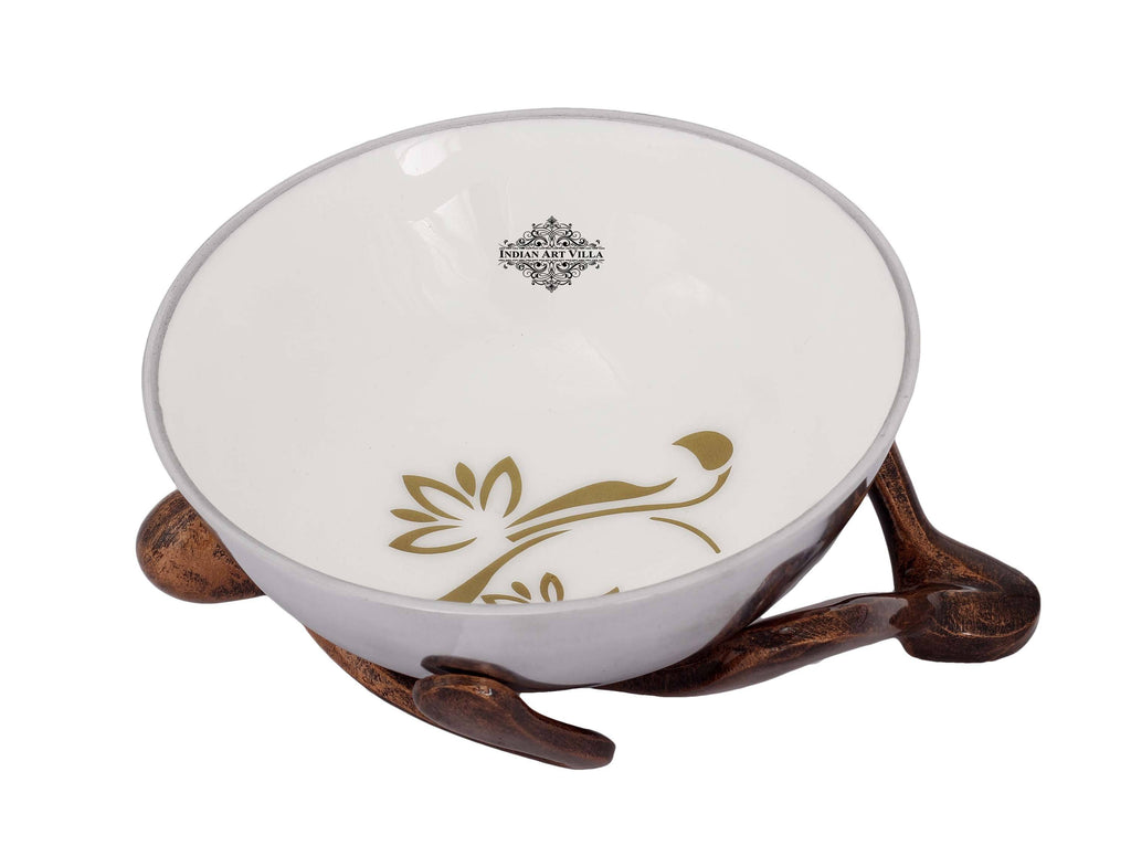 Centre Table Decorative Bowl With Human Stand Silver Plated Bowls IAV-SP-3-196