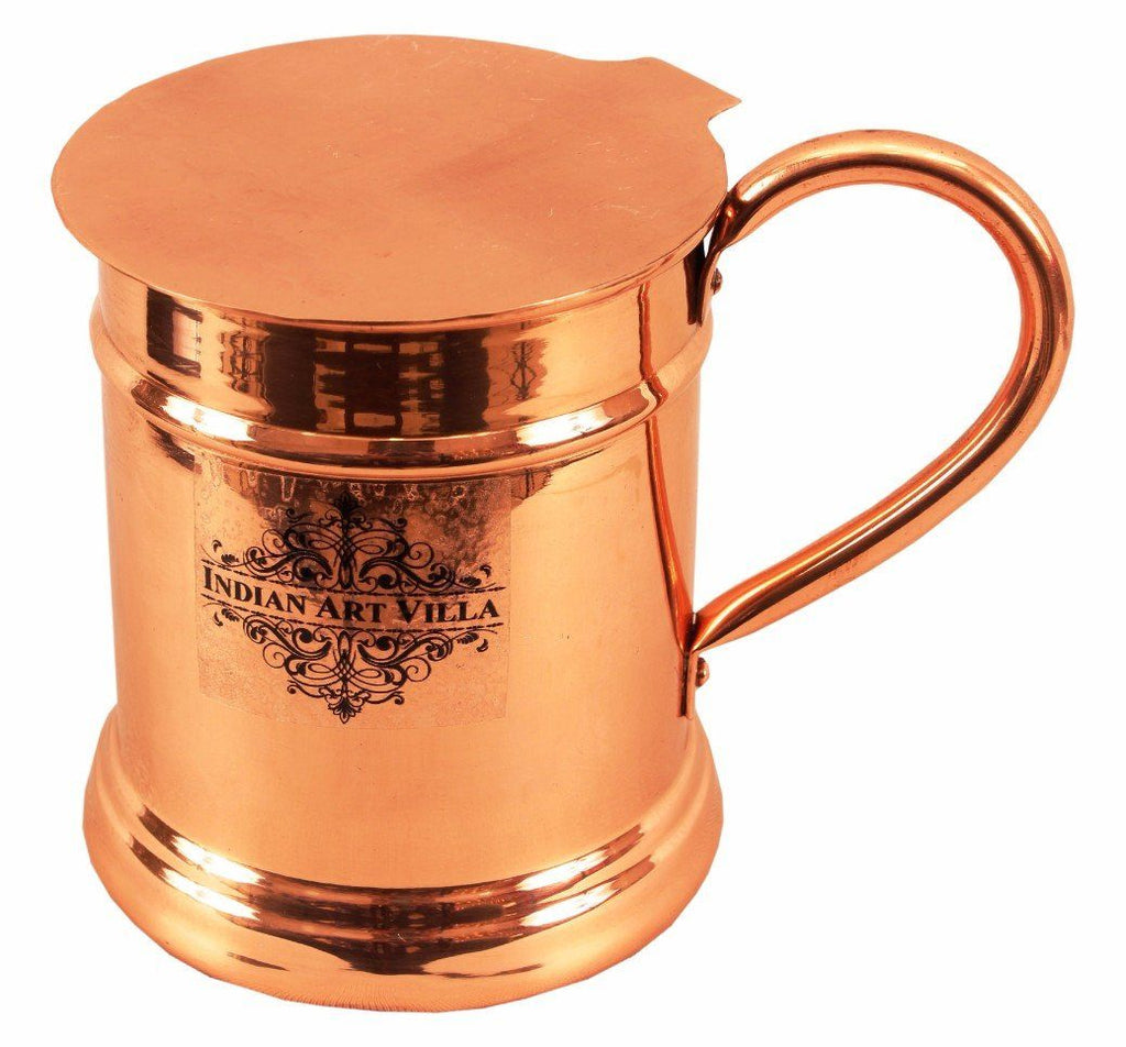 Copper Big Mug Cup 20 Oz with Coaster