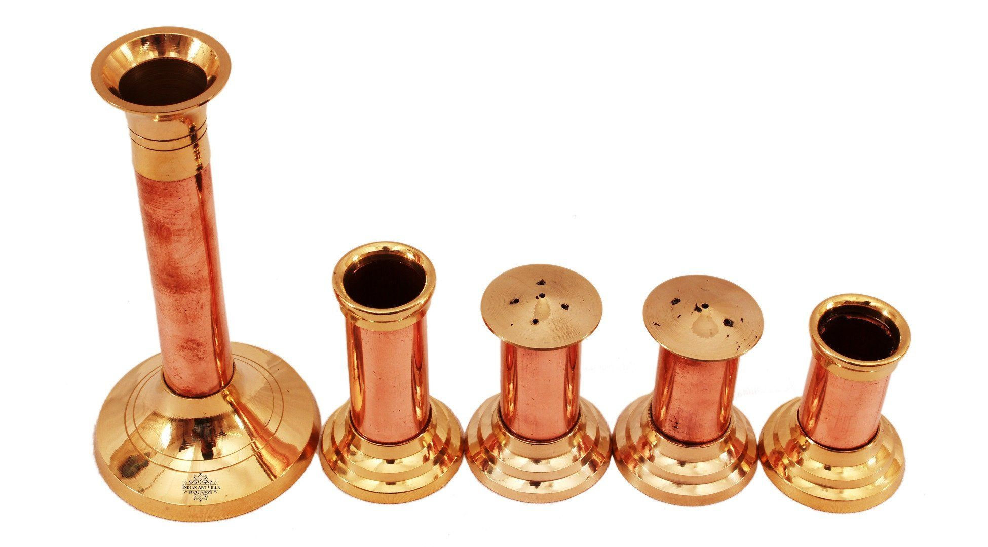 Copper Brass Set of Salt Pepper Shaker