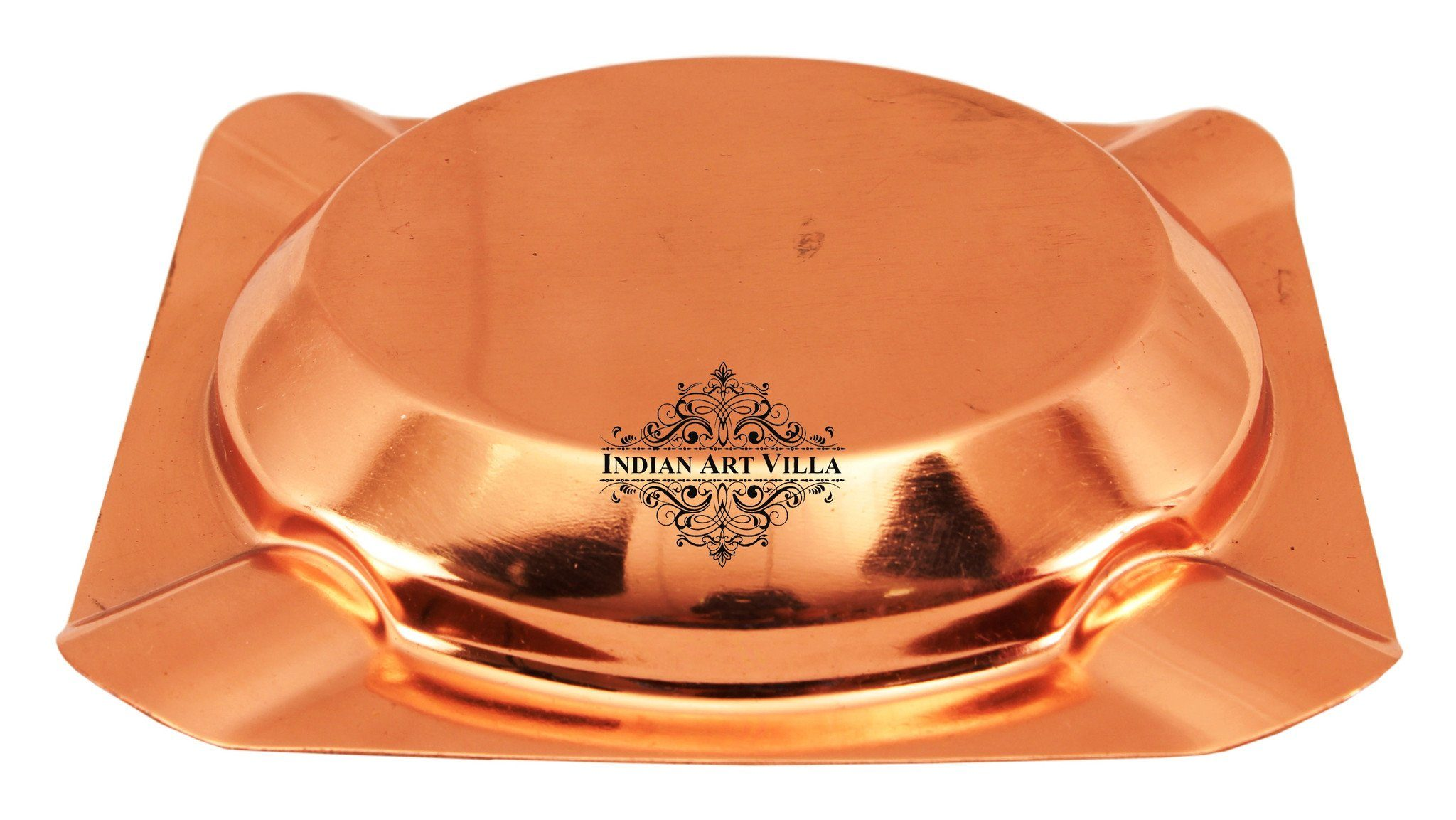 Copper Deep Ashtray with 4 Cigarettes Holders