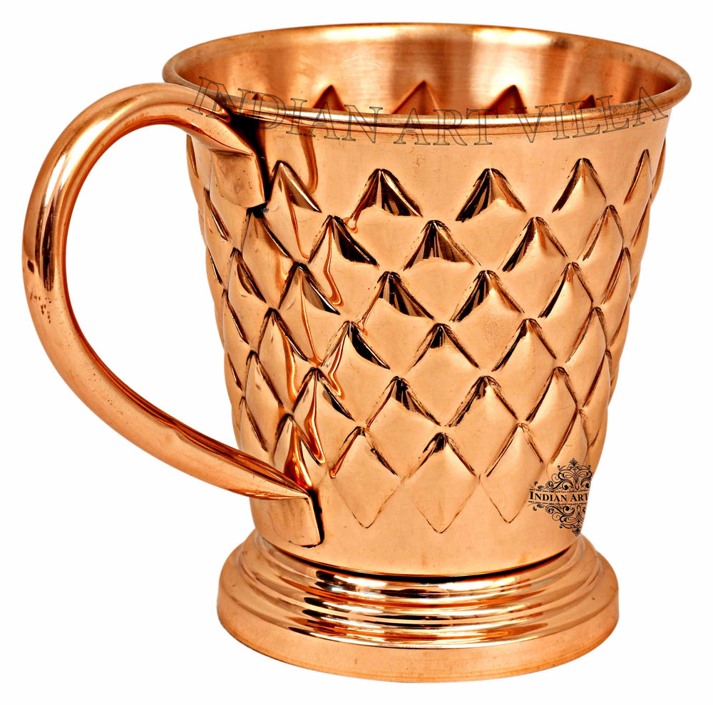 Copper Diamond Design Beer Muscow Mule Mug - 450 ML Beer Mugs CC-30