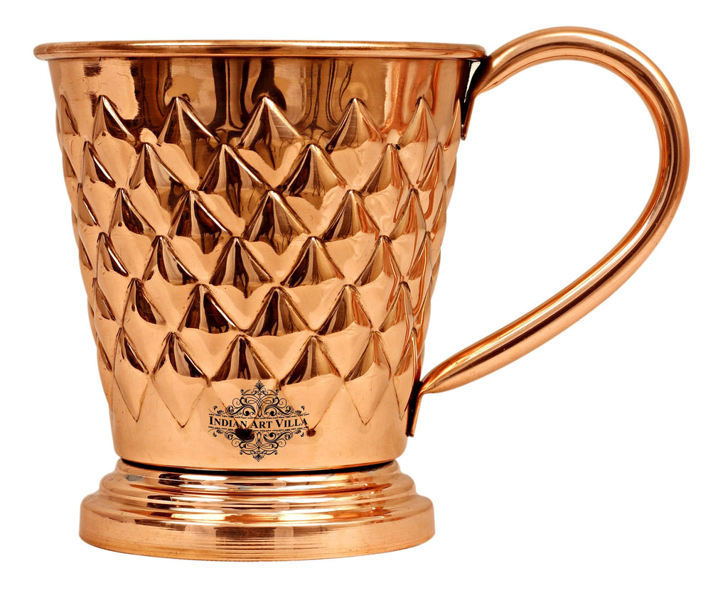 Copper Diamond Design Beer Muscow Mule Mug - 450 ML