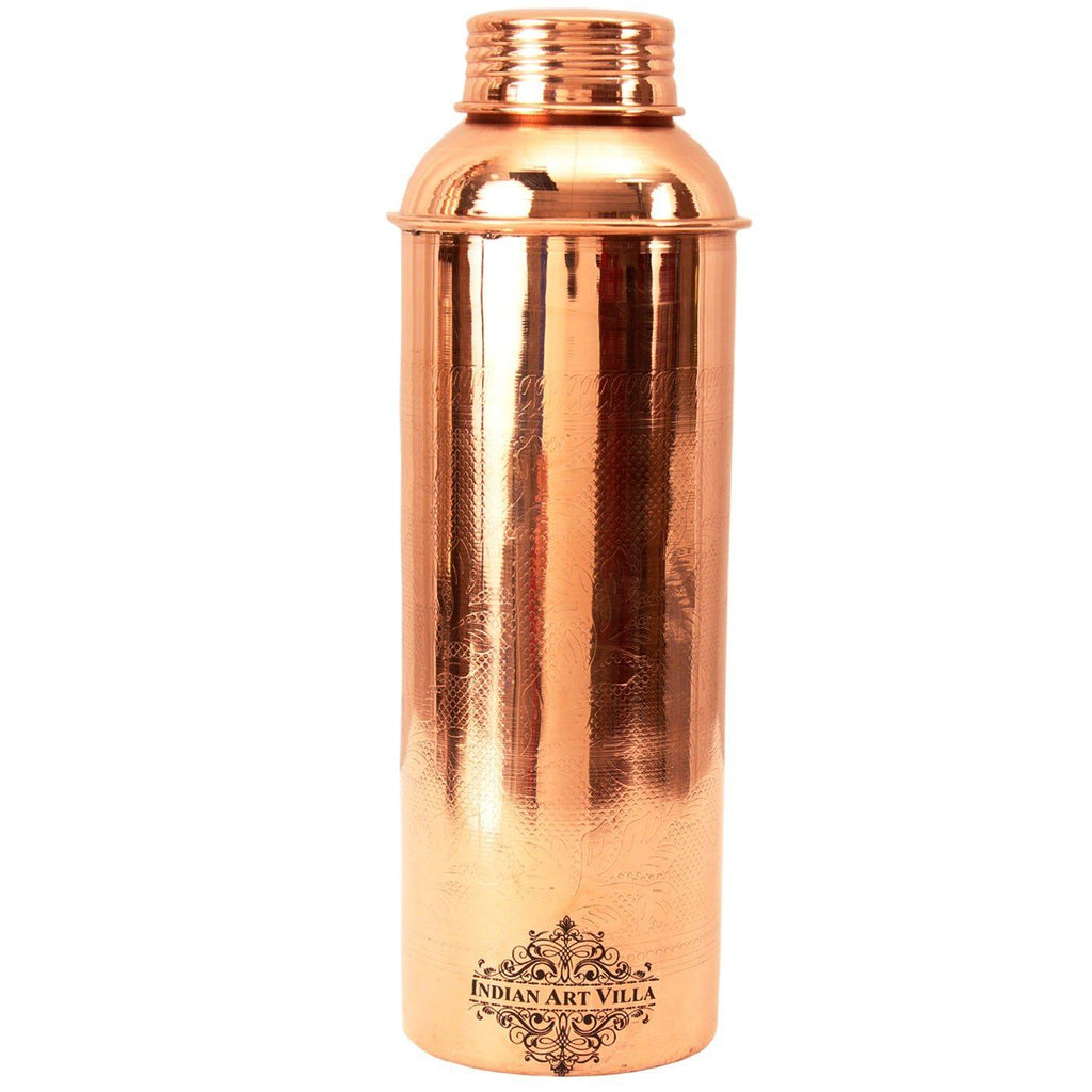 Copper Embossed Bisleri Design Bottle 900 ML Bottles CC-6