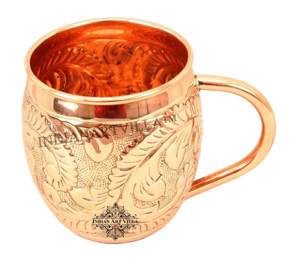 Copper Flower Design Moscow Mule Mug Beer Mugs Indian Art Villa